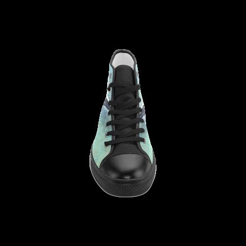 bird Men's Classic High Top Canvas Shoes (Model 017)