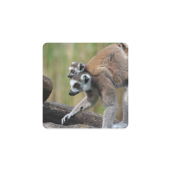 19a24c5de4 Ring-Tailed Lemur Catta Katta Mother And Baby Square Coaster