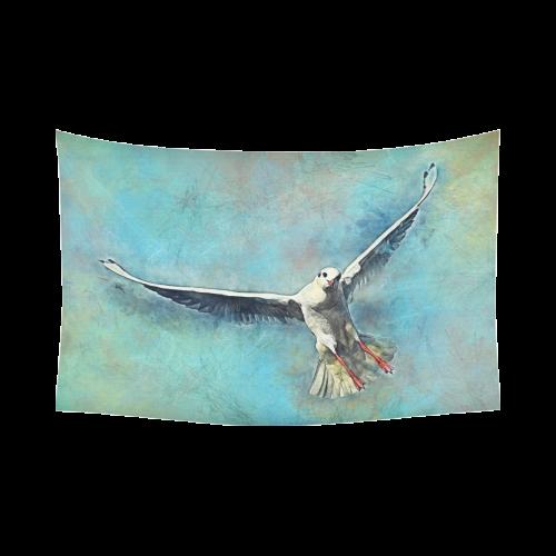 """bird Cotton Linen Wall Tapestry 90""""x 60"""""""