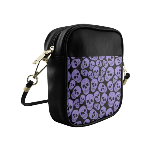 Purple Skulls (1) Sling Bag (Model 1627)