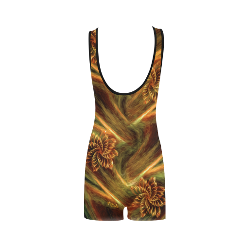 Floral flow Classic One Piece Swimwear (Model S03)