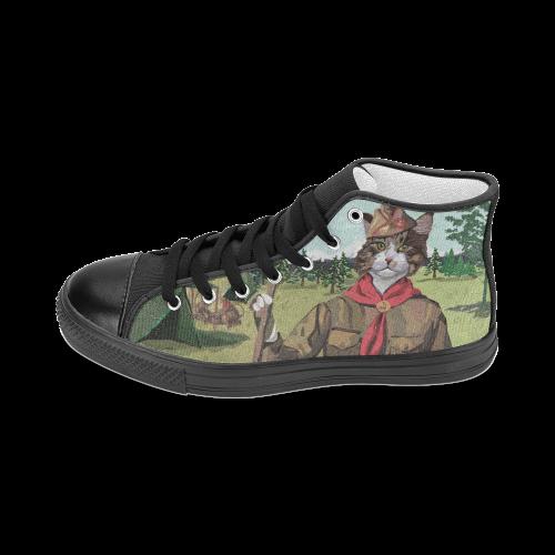 Cat Scouts Hi Top Canvas Shoes Women's Classic High Top Canvas Shoes (Model 017)