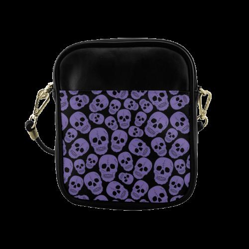 Purple Skulls (1) Sling Bag (Model 1627)