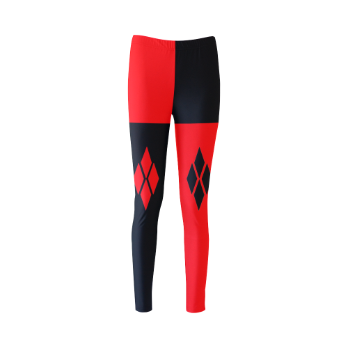 Red & Black Harlequin Cassandra Women's Leggings (Model L01)