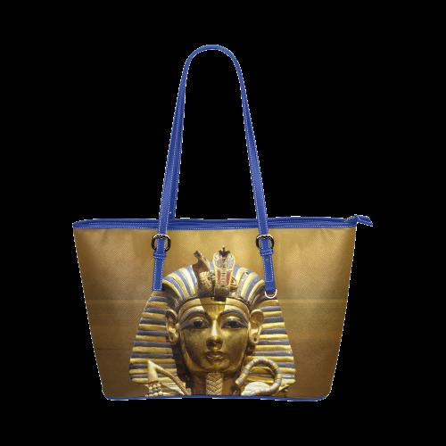 Egypt King Tut Leather Tote Bag Large Model 1651 Id D520188