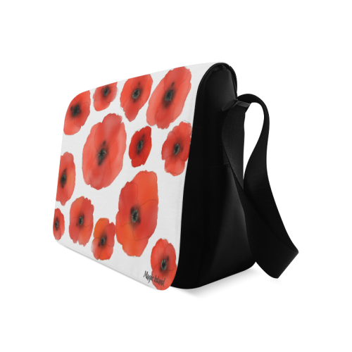 Red Poppies. Inspired by the Magic Island of Gotland. Messenger Bag (Model 1628)