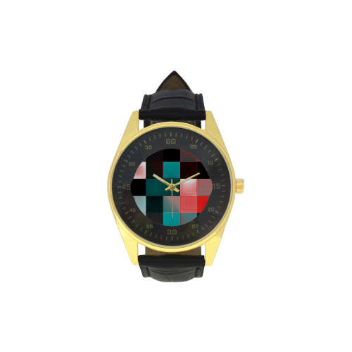 Checkmate - Jera Nour Men's Golden Leather Strap Watch(Model 210)