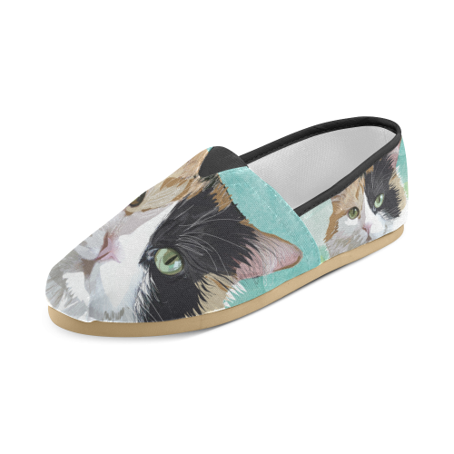 Calico Cat Casual Shoe Unisex Casual Shoes (Model 004)