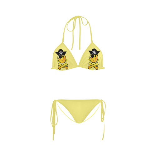 Pirate Emoticon - Smiley Emoji Girl Custom Bikini Swimsuit