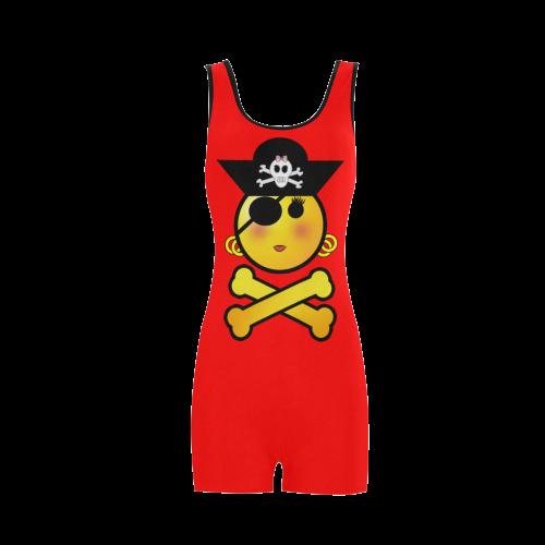 78a6b45e92 Pirate Emoticon - Smiley Emoji Classic One Piece Swimwear (Model S03) | ID:  D536074