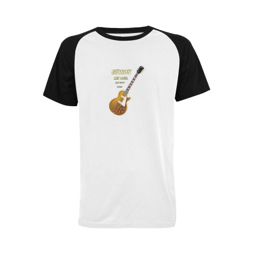 Gibson les paul goldtop 1953 Men's Raglan T-shirt Big Size (USA Size) (Model T11)