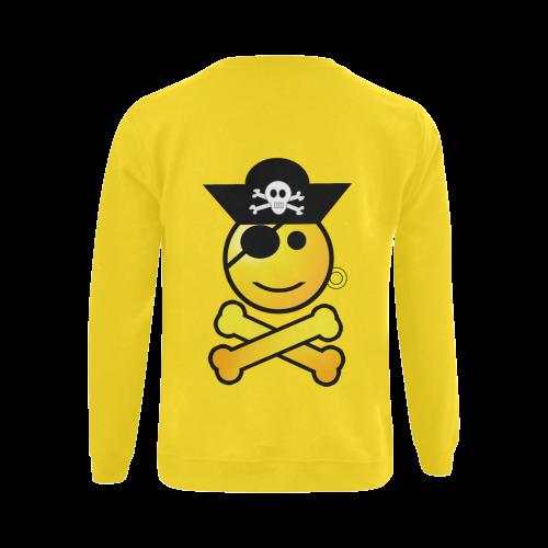 Pirate Emoticon - Smiley Emoji Gildan Crewneck Sweatshirt(NEW) (Model H01)