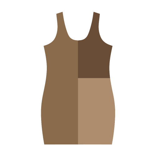 Copper Serenade Medea Vest Dress (Model D06)