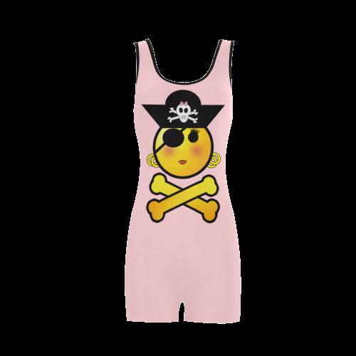 f5b54bc30b Pirate Emoticon - Smiley Emoji Classic One Piece Swimwear (Model S03) | ID:  D536080