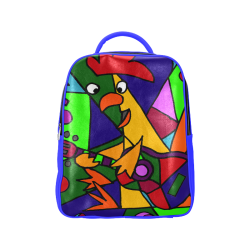 Funky Rooster playing guitar Abstract Art Popular Backpack (Model 1622) 1b26f2a6693b4