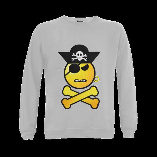 Pirate Emoticon - Frowning Emoji Gildan Crewneck Sweatshirt(NEW) (Model H01)