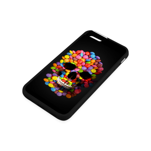 Halloween Candy Sugar Skull Rubber Case for iPhone 6/6s
