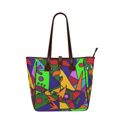 Funny Rooster Playing Guitar Abstract Classic Tote Bag (Model 1644) 8e3ec62078383