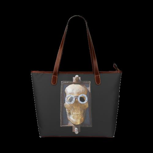 Steampunk Skull Shoulder Tote Bag (Model 1646)  4f0e933b50cd0