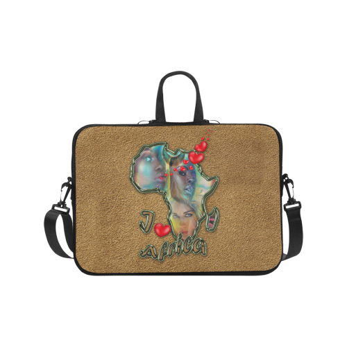 I love africa Laptop Handbags 17""