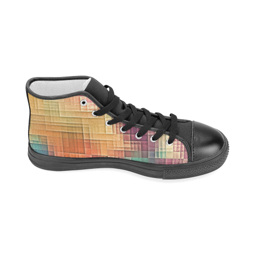 tetris 3 Men's Classic High Top Canvas Shoes (Model 017)