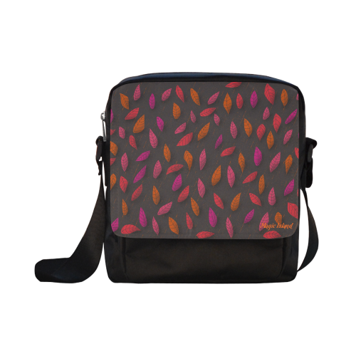 Red Leaves. Inspired by the Magic Island of Gotland. Crossbody Nylon Bags (Model 1633)