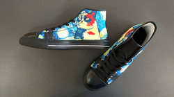 Men's Classic High Top Canvas Shoes (Model 017)