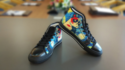 Men's Classic High Top Canvas Shoes /Large Size (Model 017)