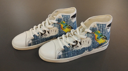 Men's High Top Canvas Shoes (Model 002)