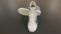Women's High Top Canvas Shoes (Model 002)