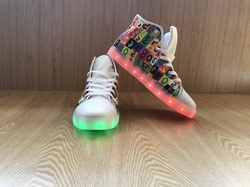 Custom Light Up Men's Shoes/Large Size (Model 045)