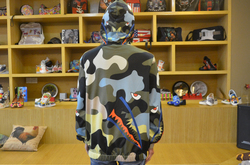 All Over Print Full Zip Hoodie for Men/Large Size (Model H14)