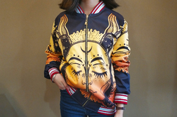 All Over Print Bomber Jacket for Women (Model H21)