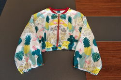 Cropped Chiffon Jacket for Women (Model H30)