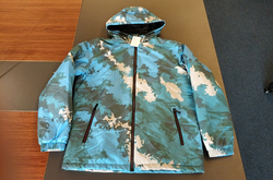 All Over Print Quilted Windbreaker for Men (Model H35)