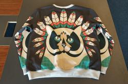 Men's Oversized Fleece Crew Sweatshirt/Large Size(Model H18)