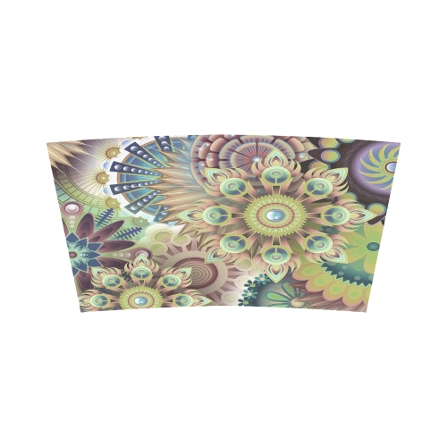 Flowering Fractal Green Whimsy Bandeau Top