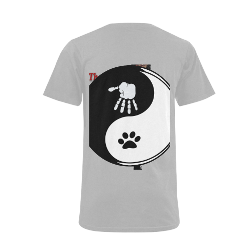 Cats and Humans Men's V-Neck T-shirt  Big Size(USA Size) (Model T10)