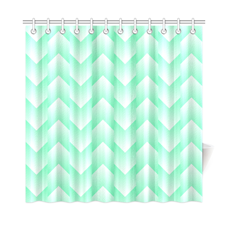 mint green and white pattern shower curtain 72 x72 id d568248