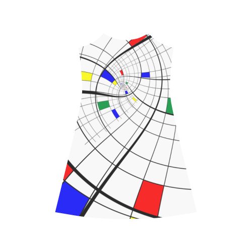 Swirl Grid With Colors Red Blue Green Yellow Alcestis Slip