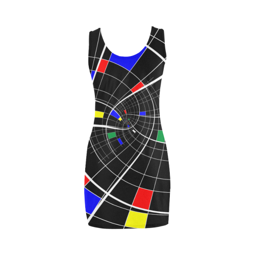 Swirl Grid With Colors Red Blue Green Yellow Spiral Medea