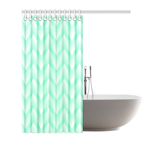 mint green and white pattern shower curtain 72 x72 id