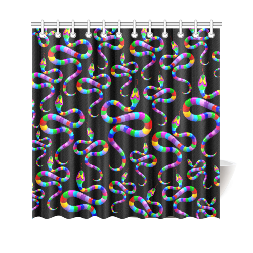 """Snake Psychedelic Rainbow Colors Shower Curtain 69""""x70"""""""