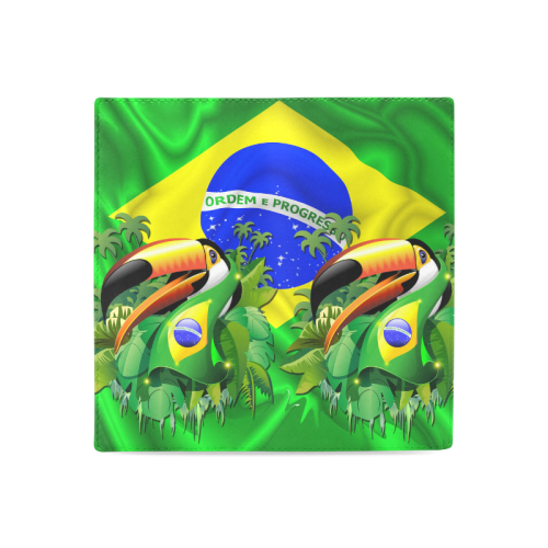 Brazil Flag with Toco Toucan Women's Leather Wallet (Model 1611)
