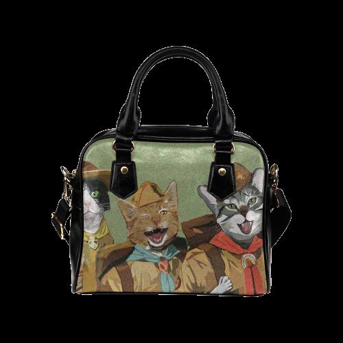 Trio of Cat Scouts Handbag Shoulder Handbag (Model 1634)