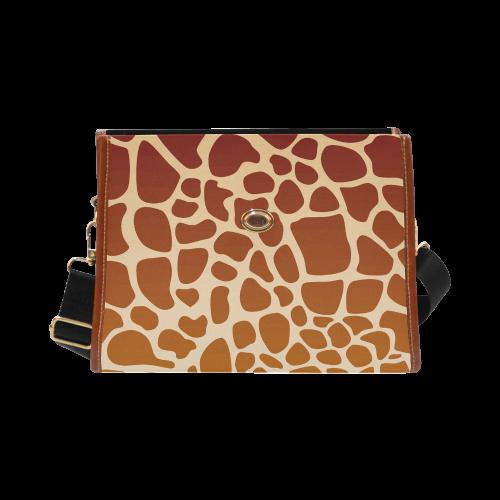 Giraffe animal print Waterproof Canvas Bag/All Over Print (Model 1641)