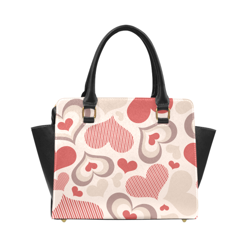 Heart Shapes Classic Shoulder Handbag (Model 1653)