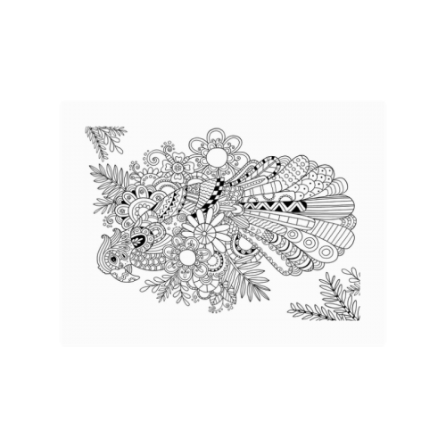 "Color your own poster free zentangles image Poster 18""x24"""