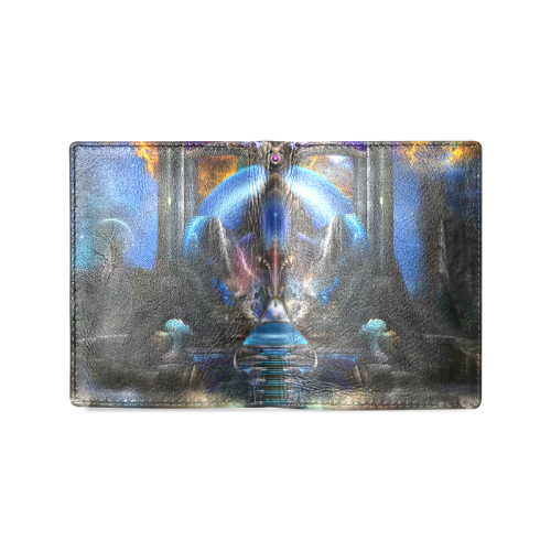 Light Of Ancient Wisdom Men's Leather Wallet (Model 1612)