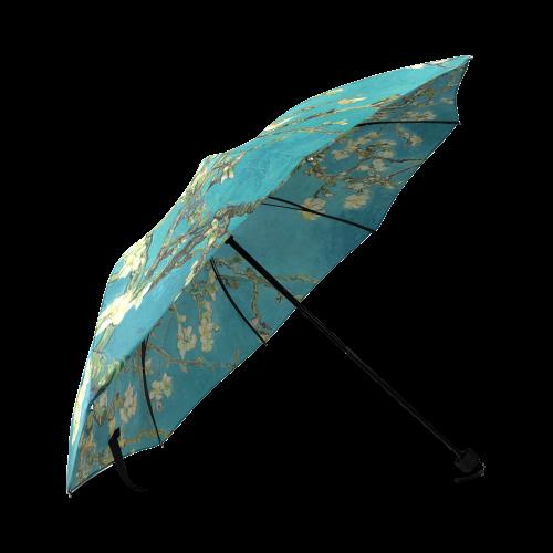 Vincent Van Gogh Blossoming Almond Tree Floral Art Foldable Umbrella (Model U01)